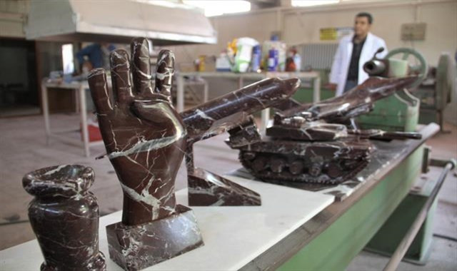 Atık mermerler sanata dönüşüyor