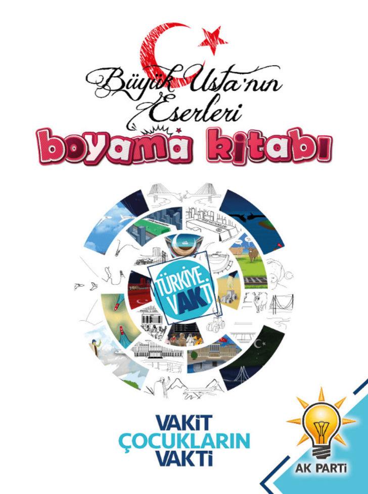 AK Parti yatırımları, çocuklara boyama kitabıyla anlatıldı 1.resim