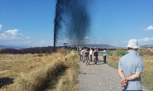 Korkutan patlamada petrol fışkırdı