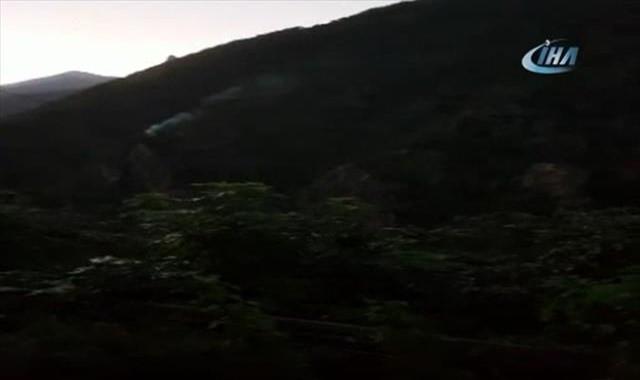 PKK'lı teröristlerle sıcak temas kamerada
