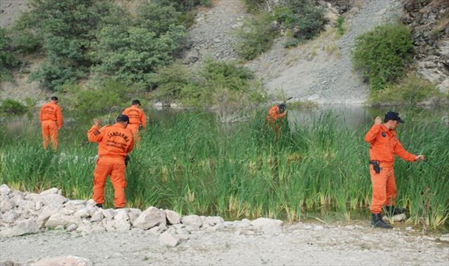 Mezarlık ve barajda da arandı