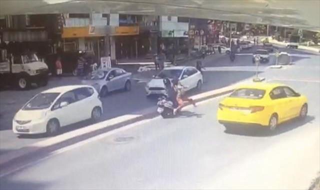 Feci kazada kadının kafatası kırıldı