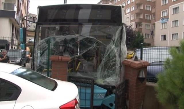 Otobüs kazası güvenlik kamerasında