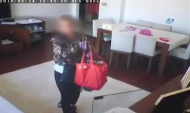 Lüks evleri soyan kadın hırsız kamerada !
