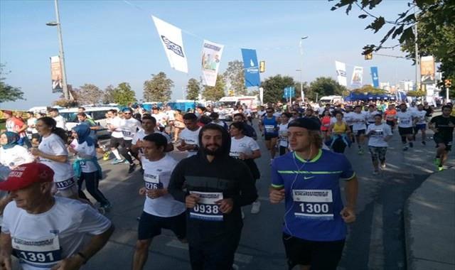 """""""İstanbul'u Koşuyorum"""" yarışında renkli görüntüler"""