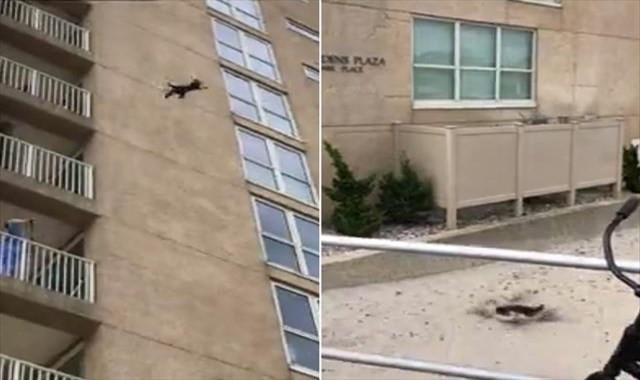 9. kattan aşağı düştü