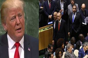 Trump BM'de konuşurken Başkan Erdoğan salonu terk etti
