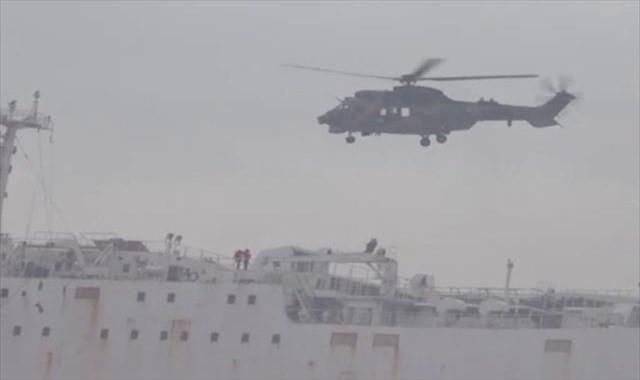 Karaya oturan gemide nefes kesen kurtarma operasyonu