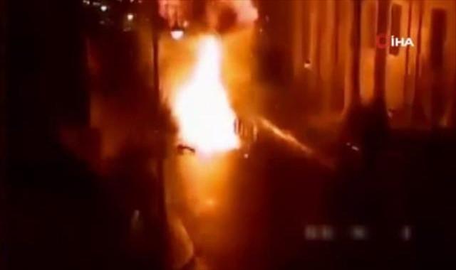 Patlama anının görüntüleri ortaya çıktı
