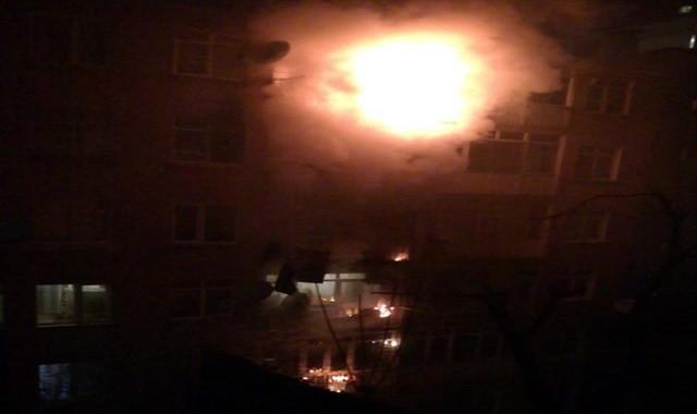 İstanbul'da korkutan yangtın