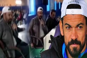 Ünlü futbolcu Servet Çetin'den 'türkü' performansı