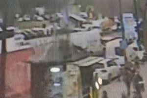 Beyazıt'taki otobüs kazası kamerada